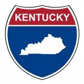 Kentucky interstate highway shield — Stock Photo