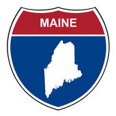 Maine interstate highway shield — Stock Photo