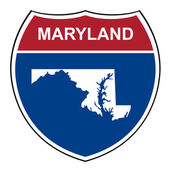 Maryland interstate highway shield — Stock Photo