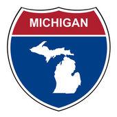 Michigan interstate highway shield — Stock Photo