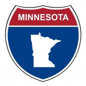 Minnesota interstate highway shield — Stock Photo