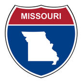 Missouri interstate highway shield — Stock Photo