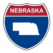 Nebraska interstate highway shield — Stock Photo