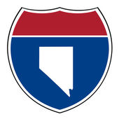 Nevada interstate highway shield — Stock Photo