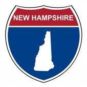 New Hampshire interstate highway shield — Stock Photo