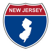 New Jersey interstate highway shield — Stock Photo
