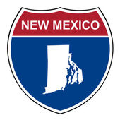 New Mexico interstate highway shield — Stock Photo