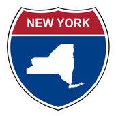 New York interstate highway shield — Stock Photo