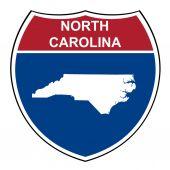 North Carolina interstate highway shield — Stock Photo
