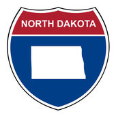 North Dakota interstate highway shield — Stock Photo