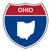 Ohio interstate highway shield — Stock Photo