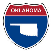 Oklahoma interstate highway shield — Stock Photo