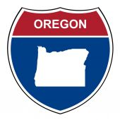 Oregon interstate highway shield — Stock Photo