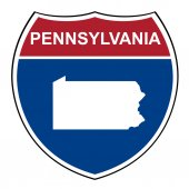Pennsylvania interstate highway shield — Stock Photo