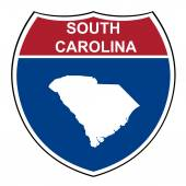 South Carolina interstate highway shield — Stock Photo