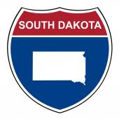 South Dakota interstate highway shield — Stock Photo