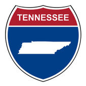 Tennessee interstate highway shield — Stock Photo