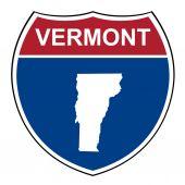 Vermont interstate highway shield — Stock Photo