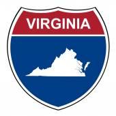 Virginia interstate highway shield — Stock Photo