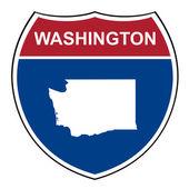 Washington interstate highway shield — Stock Photo