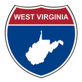 West Virginia interstate highway shield — Stock Photo