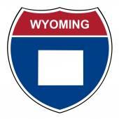 Wyoming interstate highway shield — Stock Photo