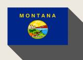 American State of Montana flag — Stock Photo