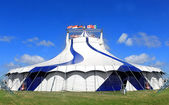 Circus tent in a field — Stock Photo