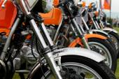 Row of motorbikes — Stock Photo