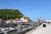 Scarborough marina in summer — Stock Photo