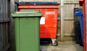 Commercial waste bins — Stock Photo