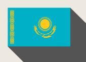 Kazakhstan flag — Stock Photo