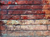 Background image with grunge brick old wall — Stock Photo
