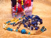 Gift for women - beads. — Stock Photo