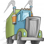 Big Cute Truck Vector Illustration Art — Stock Vector #52908355