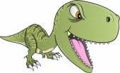 Sert dinozor t-rex vektör çizim sanat — Stok Vektör