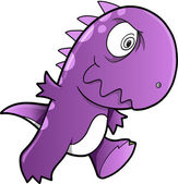 Insane Dinosaur T-Rex Vector Illustration Art — Stock Vector