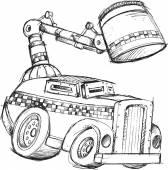 Armored Truck Vector Sketch Illustration Art — Stock Vector