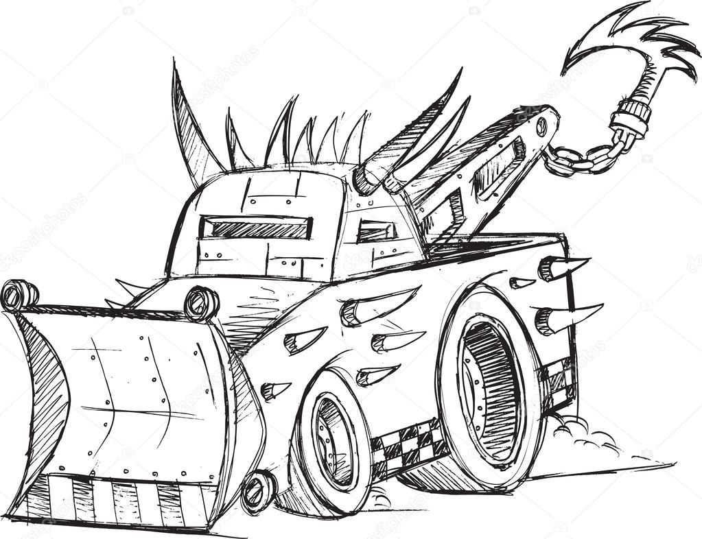 эскизы грузовиков: