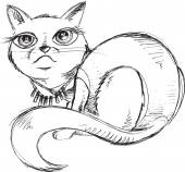 Cat Kitten Sketch Doodle Vector Illustration Art — Stockvector
