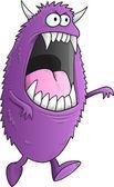 Big Purple Halloween Monster Vector Illustration Art — Stockvektor