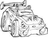 Armored Car Vehicle Sketch Vector Illustration Art — Stockvektor