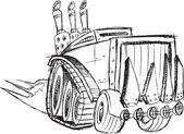 Armored Truck Vehicle Sketch Vector Illustration Art — Stock Vector