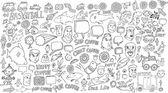 Notebook Doodle set — Wektor stockowy