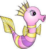 Seahorse ładny szkic — Wektor stockowy