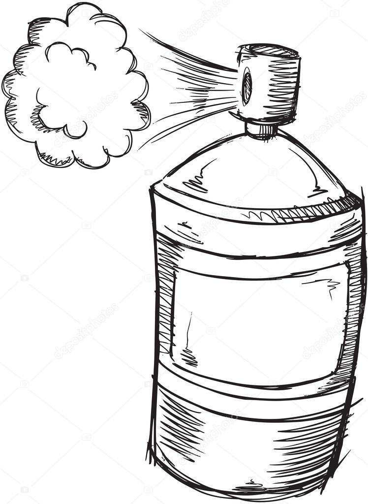 doodle sketch spray can stock vector misterelements. Black Bedroom Furniture Sets. Home Design Ideas