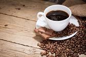Tasse de café chaud — Photo