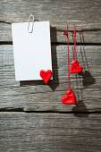 Paper with hearts — Stock Photo