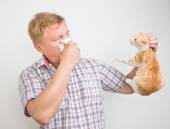 Allergic to animals — Stock Photo