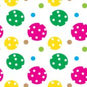 Seamless texture with balls — Stock Vector